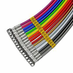 Topmerk Hel remleiding staalomvlochten diverse kleuren