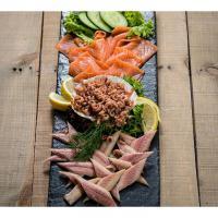 Visschotel Trio van vis