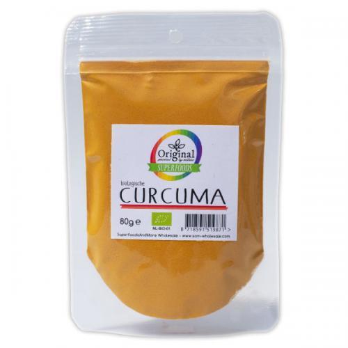 Original Superfoods Biologische Kurkuma (Geelwortelpoeder) 80 Gram