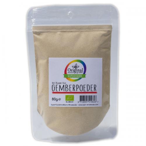 Original Superfoods Biologische Gemberpoeder 80 Gram