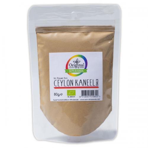 Original Superfoods Biologische Kaneel Gemalen Ceylon 80 Gram