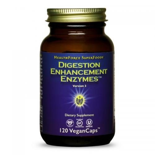 Digestion Enhancement Enzymes - 120 Vegan Caps - HealthForce SuperFoods