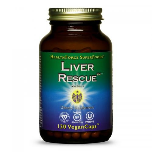 Liver Rescue Liver Support - 120 V-Caps - HealthForce SuperFoods