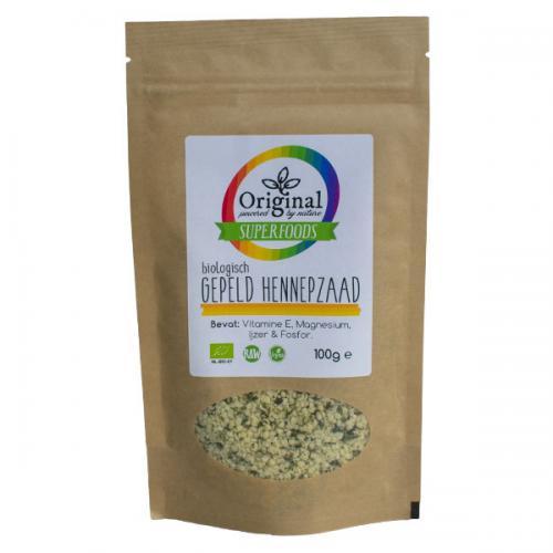 Original Superfoods Biologische Hennepzaad Gepeld 100 Gram