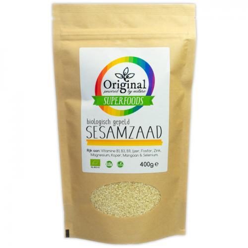 Original Superfoods Biologische Sesamzaad Gepeld 400 Gram