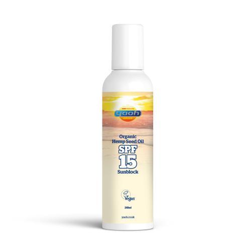 Organic Hemp Seed Oil - Yaoh - SPF-15 Sunblock 240 ML