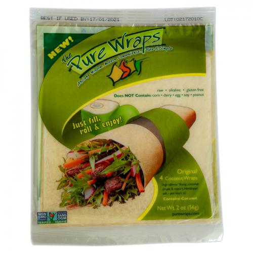 Coconut Wraps Original 4 stuks - Pure Wraps
