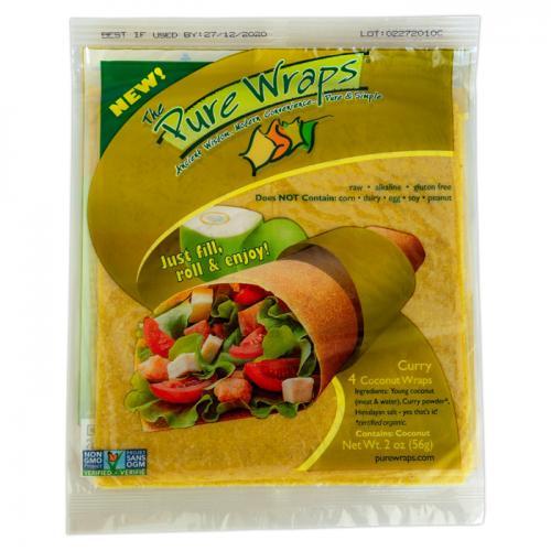 Coconut Wraps Curry 4 Stuks - Pure Wraps