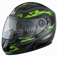 Kiwi raptor green fiberglas helm