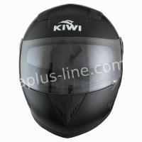 Kiwi raptor mat zwart fiberglas helm