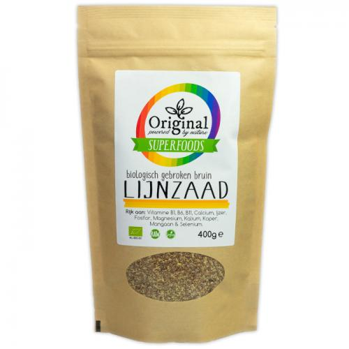 Original Superfoods Biologisch Gebroken Bruin Lijnzaad 400 Gram