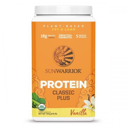 Sunwarrior Classic Plus Biologische Proteïne Vanille Smaak - 750 Gram