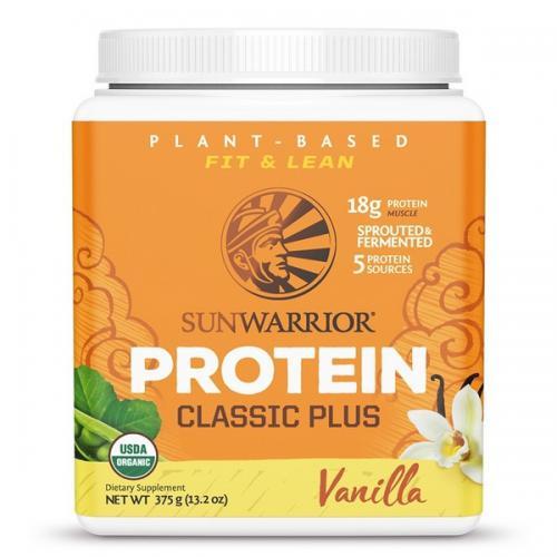 Sunwarrior Classic Plus Biologische Proteïne Vanille Smaak - 375 Gram