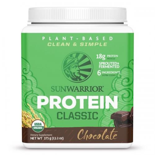 Sunwarrior Classic Proteine Chocolade Smaak - 375 Gram