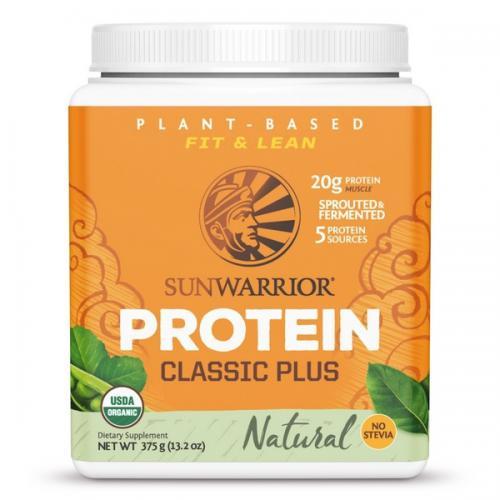Sunwarrior Classic Plus Biologische Proteïne Naturel Smaak - 375 Gram