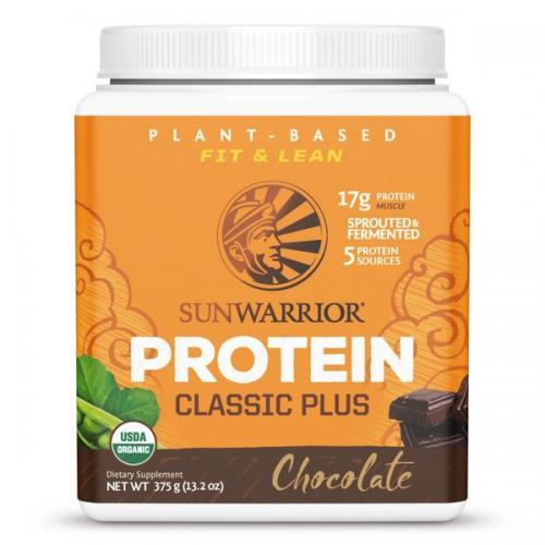 Sunwarrior Classic Plus Biologische Proteïne Chocolade Smaak 375 Gram
