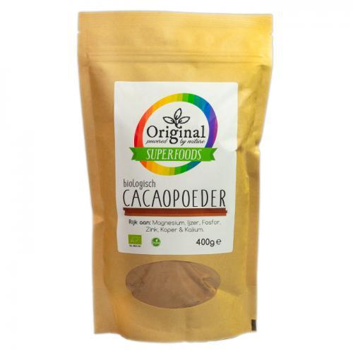 Original Superfoods Biologische Cacaopoeder Zuid-Centraal Amerika 400 Gram