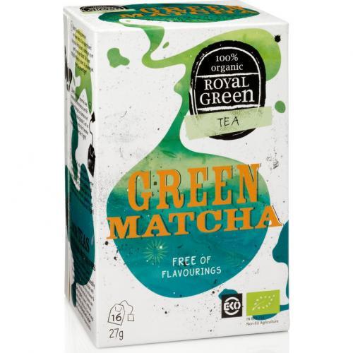 Royal Green Biologische Green Matcha Thee 16 Zakjes