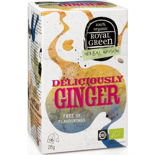 Royal Green Biologische Deliciously Ginger Thee 16 Zakjes