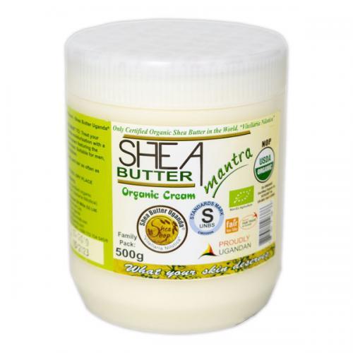 Shea Shop Biologische Shea Butter Cream 500 Gram