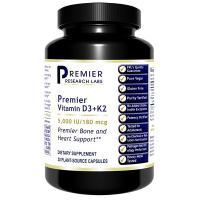 Premier Vitamin D3+K2 30 V-Caps - PRL