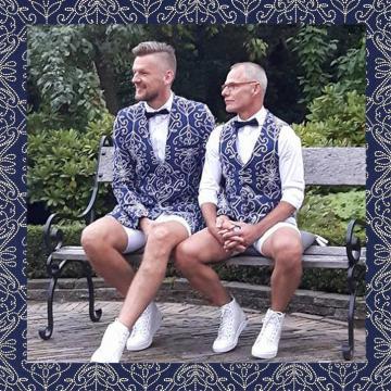 Liefbruidspaar - Gerben en Marco, 12 augustus 2017 - Delfts Blauw